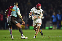 James Haskell of Wasps in possession. European Rugby Champions Cup match, between Harlequins and Wasps on January 13, 2018 at the Twickenham Stoop in London, England. Photo by: Patrick Khachfe / JMP