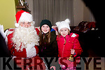 Pictured meeting Santa Claus at the switch on of Purcell's Christmas Charity Lights, Sunhill, Killorglin, on Saturday evening, in aid of Killorglin Hospice & Recovery Haven Killorglin were Kayla and Ellie McElroy.
