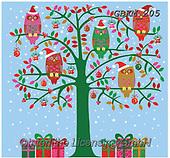 Kate, CHRISTMAS SYMBOLS, WEIHNACHTEN SYMBOLE, NAVIDAD SÍMBOLOS, paintings+++++Christmas page 75,GBKM205,#xx#,owls
