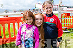 Aoife and Shauna O'Sullivan, from Lios Póil, with Eimear Baker(centre), from Ballyferriter, enjoying the Dingle Races over the weekend.