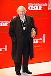 Niels Arestrup arrive au Fouquets pour le repas après les César 2014, Restaurant le Fouquet's