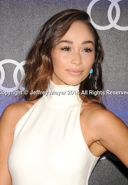 LOS ANGELES, CA- AUGUST 21: Actress Cara Santana arrives at the Audi Emmy Week Celebration at Cecconi's Restaurant on August 21, 2014 in Los Angeles, California.