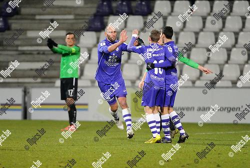 2016-03-18 / Voetbal / Seizoen 2015-2016 / Beerschot-Wilrijk - Rupel-Boom / Bjorn Ruytinx (B-W) scoorde de 1-1<br /> <br /> Foto: Mpics.be
