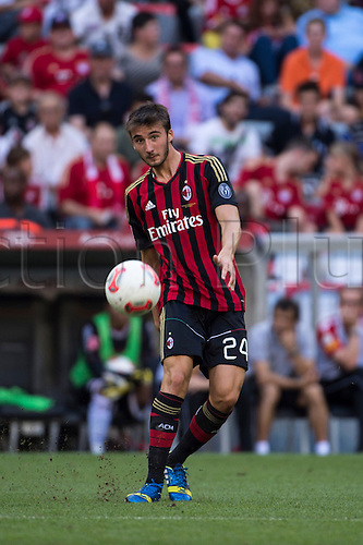 01.08.2013. Munich, Germany.  Bryan Cristante (Milan) Audi Cup 2013 match between AC Milan 1-0 Sao Paulo FC at Allianz Arena in Munich, Germany.