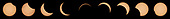 This composite image of nine pictures shows the progression of a partial solar eclipse near Banner, Wyoming on Monday, Aug. 21, 2017. A total solar eclipse swept across a narrow portion of the contiguous United States from Lincoln Beach, Oregon to Charleston, South Carolina. A partial solar eclipse was visible across the entire North American continent along with parts of South America, Africa, and Europe.  <br /> Mandatory Credit: Joel Kowsky / NASA via CNP
