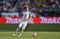 Santa Clara, CA. - June 3, 2016: The U.S. Men's national team go down 0-2 to Colombia in first half action in their opening match at the 2016 Copa America Centenario at Levi's stadium.