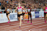 22 AUG 2013 - STOCKHOLM, SWE - Zuzana Hejnova of the Czech Republic wins the women's 400m hurdles during the DN Galen meet of the 2013 Diamond League at the Stockholm Olympic Stadium in Stockholm, Sweden (PHOTO COPYRIGHT © 2013 NIGEL FARROW, ALL RIGHTS RESERVED)