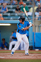 Hudson Valley Renegades catcher Chris Betts (26) at bat during a game against the Tri-City ValleyCats on August 24, 2018 at Dutchess Stadium in Wappingers Falls, New York.  Hudson Valley defeated Tri-City 4-0.  (Mike Janes/Four Seam Images)