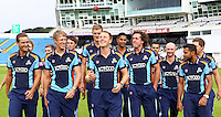 PICTURE BY ALEX WHITEHEAD/SWPIX.COM - Cricket - Headingley, Leeds, England - 10/09/2012 - Yorkshire captain Andrew Gale with team-mates prior to a photocall as they prepare for the T20 (20/20) Champions League.
