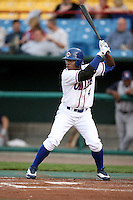 June 2, 2009: Tim Raines, Jr. (4) of the Omaha Royals at Rosenblatt Stadium in Omaha, NE.  Photo by: Chris Proctor/Four Seam Images