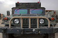 The front view of superseeded humvee at the jalalabad air base JAF