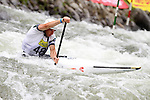 08.08.2015 La Seu d'Urgel, Lleida.ICF Canoe Slalom World Cup 4.  Picture show Jordi Domenjo (ESP) in action during canoe single (C1) men final at Canal Olimpic