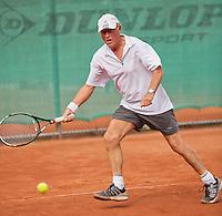 Netherlands, Amstelveen, August 21, 2015, Tennis,  National Veteran Championships, NVK, TV de Kegel,  Men's 75+ Peter Buter<br /> Photo: Tennisimages/Henk Koster
