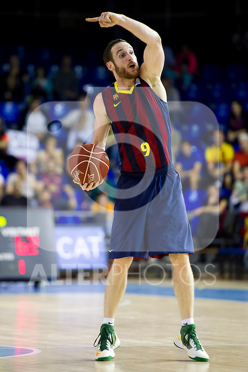FC Barcelona's Marcelinho Huertas during Liga Endesa ACB 2013-2014 match against Gipuzkoa Basket Club. November 3, 2013. (ALTERPHOTOS/Alex Caparros)