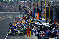 Verizon IndyCar Series<br /> Indianapolis 500 Race<br /> Indianapolis Motor Speedway, Indianapolis, IN USA<br /> Sunday 28 May 2017<br /> Ed Carpenter, Ed Carpenter Racing Chevrolet makes a pit stop.<br /> World Copyright: F. Peirce Williams<br /> LAT Images