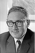 Portrait of Doctor Henry A. Kissinger taken in Washington, D.C. on May 23, 1969.  At the time, Kissinger was National Security Advisor to United States President Richard M. Nixon.<br /> Credit: White House via CNP