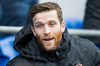 Adam Matthews of Sunderland on the bench ahead of the Sky Bet Championship match between Cardiff City and Sunderland at the Cardiff City Stadium, Cardiff, Wales on 13 January 2018. Photo by Mark  Hawkins / PRiME Media Images.