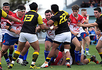Scott Cameron in action during the preseason provincial rugby match between Horowhenua Kapiti and Wellington at Levin Domain in Levin, New Zealand on Monday, 4 May 2018. Photo: Dave Lintott / lintottphoto.co.nz