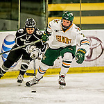 13 November 2015: University of Vermont Catamount Defender Rachael Ade, a Junior from Davenport, FL, in action against the Providence College Friars at Gutterson Fieldhouse in Burlington, Vermont. The Lady Friars defeated the Lady Cats 4-1 in Hockey East play. Mandatory Credit: Ed Wolfstein Photo *** RAW (NEF) Image File Available ***