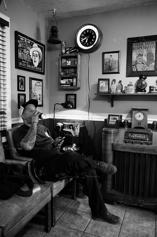 Salt Lake City, Utah, June 13, 2012.Barber shop..