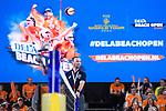 06.01.2019, Den Haag, Sportcampus Zuiderpark<br />Beachvolleyball, FIVB World Tour, 2019 DELA Beach Open, Halbfinale<br /><br />Schiedsrichter, Schiri Roman Pristovakin<br /><br />  Foto &copy; nordphoto / Kurth