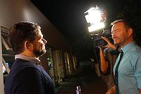 LOS ANGELES - NOV 9: Matt Zarley, Randy Slovacek at the special screening of Matt Zarley's 'hopefulROMANTIC' at the American Film Institute on November 9, 2014 in Los Angeles, California