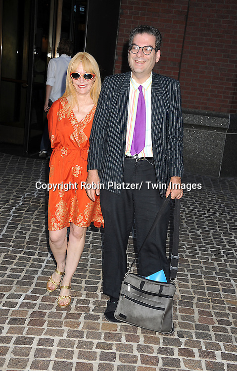 "Anita Sarko and Michael Musto attending the New York Special Screening of ""The Debt"" on August 22, 2011 at The Tribeca Grand Hotel in New York City. The movie stars Helen Mirren and Jessica Chastain."