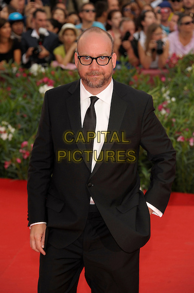 Paul Giamatti.'The Ides of March' screening.68th Venice International Film Festival, Italy 31st August 2011.half length black suit jacket tie white shirt glasses beard facial hair hand in pocket.CAP/PL.©Phil Loftus/Capital Pictures.