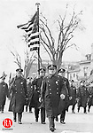 Lieut. James Mulville lead this group of police officers during the 1936 St. Patrick's Day parade in Waterbury.
