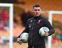 Lincoln City's lead sports scientist Luke Jelly during the pre-match warm-up<br /> <br /> Photographer Andrew Vaughan/CameraSport<br /> <br /> The EFL Sky Bet League Two - Port Vale v Lincoln City - Saturday 13th October 2018 - Vale Park - Burslem<br /> <br /> World Copyright © 2018 CameraSport. All rights reserved. 43 Linden Ave. Countesthorpe. Leicester. England. LE8 5PG - Tel: +44 (0) 116 277 4147 - admin@camerasport.com - www.camerasport.com