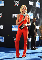 """LOS ANGELES - OCTOBER 4: Charissa Thompson hosts the kick-off event for the """"WWE Friday Night Smackdown on FOX"""" at Staples Center on October 4, 2019 in Los Angeles, California. (Photo by Frank Micelotta/Fox Sports/PictureGroup)"""