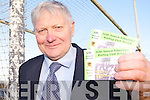 I WAS THERE: PB McElligott from Kilmoyley who has been at every one of the 50 annual socials hosted by the club, with his tickets for this year's event.