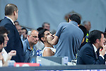 Real Madrid's Gustavo Ayon Injured during the first match of the playoff at Barclaycard Center in Madrid. May 27, 2016. (ALTERPHOTOS/BorjaB.Hojas)