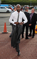 Pictured: Dwight Tiendalli arrives Wednesday 20 May 2015<br /> Re: Swansea City FC Awards Dinner at the Liberty Stadium, south Wales, UK