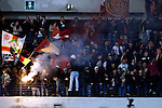 Roma supporters in action during the Serie A football match Chievo Verona vs Roma at Verona, on March 22, 2014. <br /> &copy; Pierre Teyssot