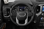 Car pictures of steering wheel view of a 2020 GMC Sierra-2500-HD Denali 4 Door Pick-up Steering Wheel