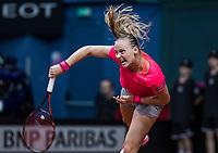 Bratislava, Slovenia, April 22, 2017,  FedCup: Slovakia-Netherlands, seccond rubber : Rebecca Sramkova (SVK)<br /> Photo: Tennisimages/Henk Koster