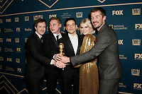 Beverly Hills, CA - JAN 06:  Joseph Mazzello, Ben Hardy, Rami Malek, Lucy Boynton, and Gwilym Lee attend the FOX, FX, and Hulu 2019 Golden Globe Awards After Party at The Beverly Hilton on January 6 2019 in Beverly Hills CA. <br /> CAP/MPI/IS/CSH<br /> ©CSHIS/MPI/Capital Pictures