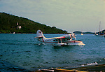 Inter island sea planes.Series of images from St Thomas between 1975 -1977,USA.