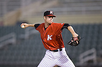 Kannapolis Intimidators relief pitcher Jack Charleston (25) in action against the Asheville Tourists at Kannapolis Intimidators Stadium on May 26, 2016 in Kannapolis, North Carolina.  The Tourists defeated the Intimidators 9-6 in 11 innings.  (Brian Westerholt/Four Seam Images)