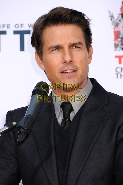 LOS ANGELES, CA - DECEMBER 03: Tom Cruise at Ben Stiller's hand and footprint ceremony at the TCL Chinese Theatre on December 3, 2013 in Los Angeles, California.<br /> CAP/ADM/BP<br /> &copy;Byron Purvis/AdMedia/Capital Pictures