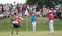 Victor Dubuisson (FRA) chips to the 3rd during Round Three of the 2015 Alstom Open de France, played at Le Golf National, Saint-Quentin-En-Yvelines, Paris, France. /04/07/2015/. Picture: Golffile | David Lloyd<br /> <br /> All photos usage must carry mandatory copyright credit (© Golffile | David Lloyd)