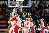 9th February 2018, Aleksandar Nikolic Hall, Belgrade, Serbia; Euroleague Basketball, Crvenz Zvezda mts Belgrade versus AX Armani Exchange Olimpia Milan; Center Mathias Lessort of Crvena Zvezda mts Belgrade dunks