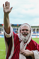 Santa appears ahead of the Sky Bet League 2 match between Luton Town and Wycombe Wanderers at Kenilworth Road, Luton, England on 26 December 2015. Photo by David Horn.