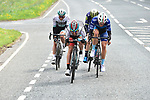 The breakaway group featuring Jonathan McEvoy Madison Genesis, Dexter Gardias Bike Channel Canyon, Mathew Hayman (AUS) Orica-Scott and Peter Williams One Pro Cycling in action during Stage 3 of the Tour de Yorkshire 2017 running 194.5km from Bradford/Fox Valley to Sheffield, England. 30th April 2017. <br /> Picture: ASO/P.Ballet | Cyclefile<br /> <br /> <br /> All photos usage must carry mandatory copyright credit (&copy; Cyclefile | ASO/P.Ballet)