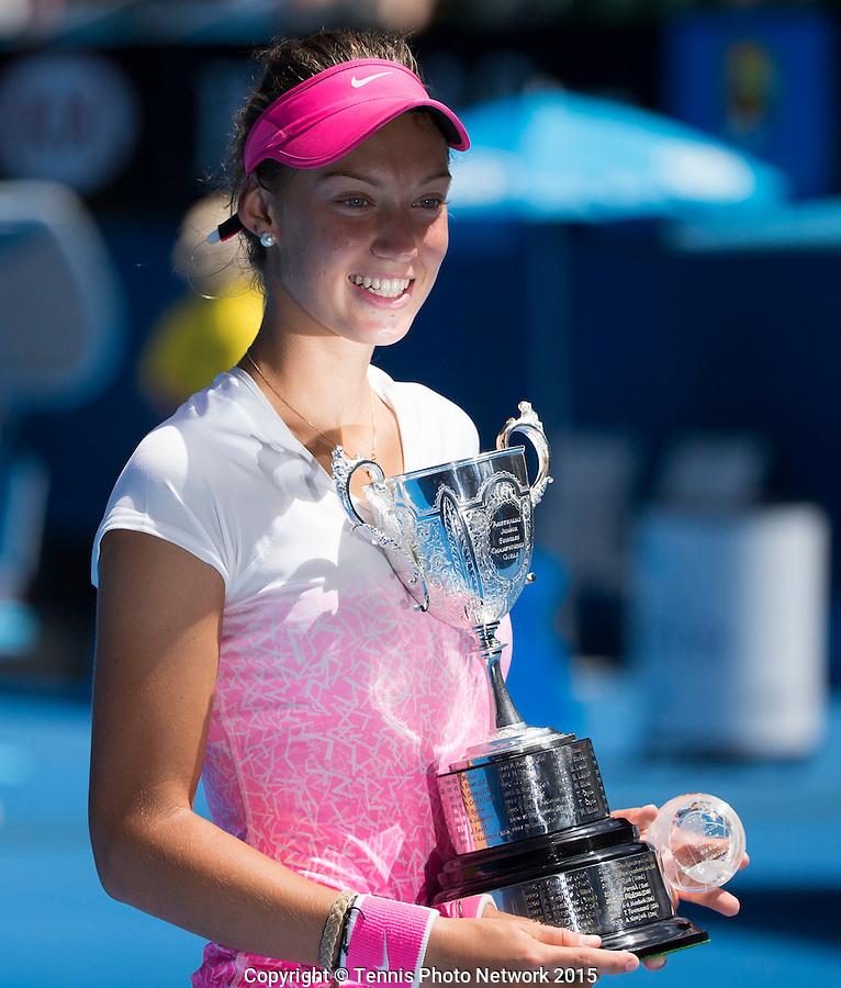 TEREZA MIHALIKOVA (SVK)<br /> <br /> Tennis - Australian Open 2015 - Grand Slam -  Melbourne Park - Melbourne - Victoria - Australia  - 31 January 2015. <br /> &copy; AMN IMAGES