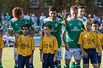 04.09.2018, Hoheellern-Stadion, Leer, GER, FSP, Werder Bremen (GER) vs FC Emmen (NED)<br /> <br /> DFL REGULATIONS PROHIBIT ANY USE OF PHOTOGRAPHS AS IMAGE SEQUENCES AND/OR QUASI-VIDEO.<br /> <br /> im Bild / picture shows<br /> Nuri Sahin (Werder Bremen #17) winkt beim Einlaufen mit Einlaufkids, <br /> <br /> Foto © nordphoto / Ewert