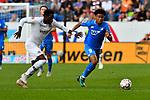 07.10.2018, wirsol Rhein-Neckar-Arena, Sinsheim, GER, 1 FBL, TSG 1899 Hoffenheim vs Eintracht Frankfurt, <br /> <br /> DFL REGULATIONS PROHIBIT ANY USE OF PHOTOGRAPHS AS IMAGE SEQUENCES AND/OR QUASI-VIDEO.<br /> <br /> im Bild: Danny da Costa (Eintracht Frankfurt #24) gegen Reiss Nelson<br /> <br /> Foto &copy; nordphoto / Fabisch