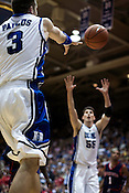 November 28, 2008. Durham, NC.. Duke vs. Duquesne at Cameron Indoor Stadium..Greg Paulus had 15 points and 1 rebound in the 95-72 Duke victory.