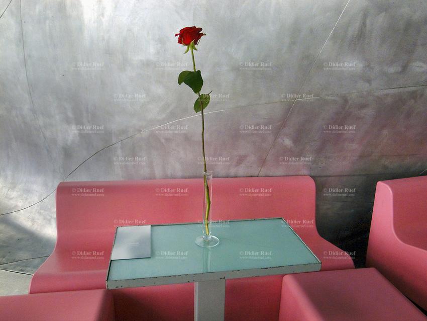 Paris red rose centre georges pompidou art didier for Art minimal pompidou
